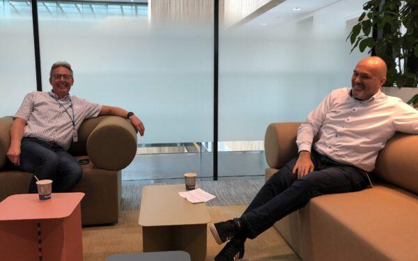 Joep (ex-voorzitter OR) en Anton (directeur HR)